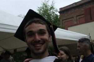 Tyler at his graduation from Vassar.