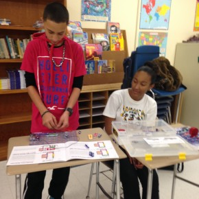 Darion and Kiara showed off their engineering skills
