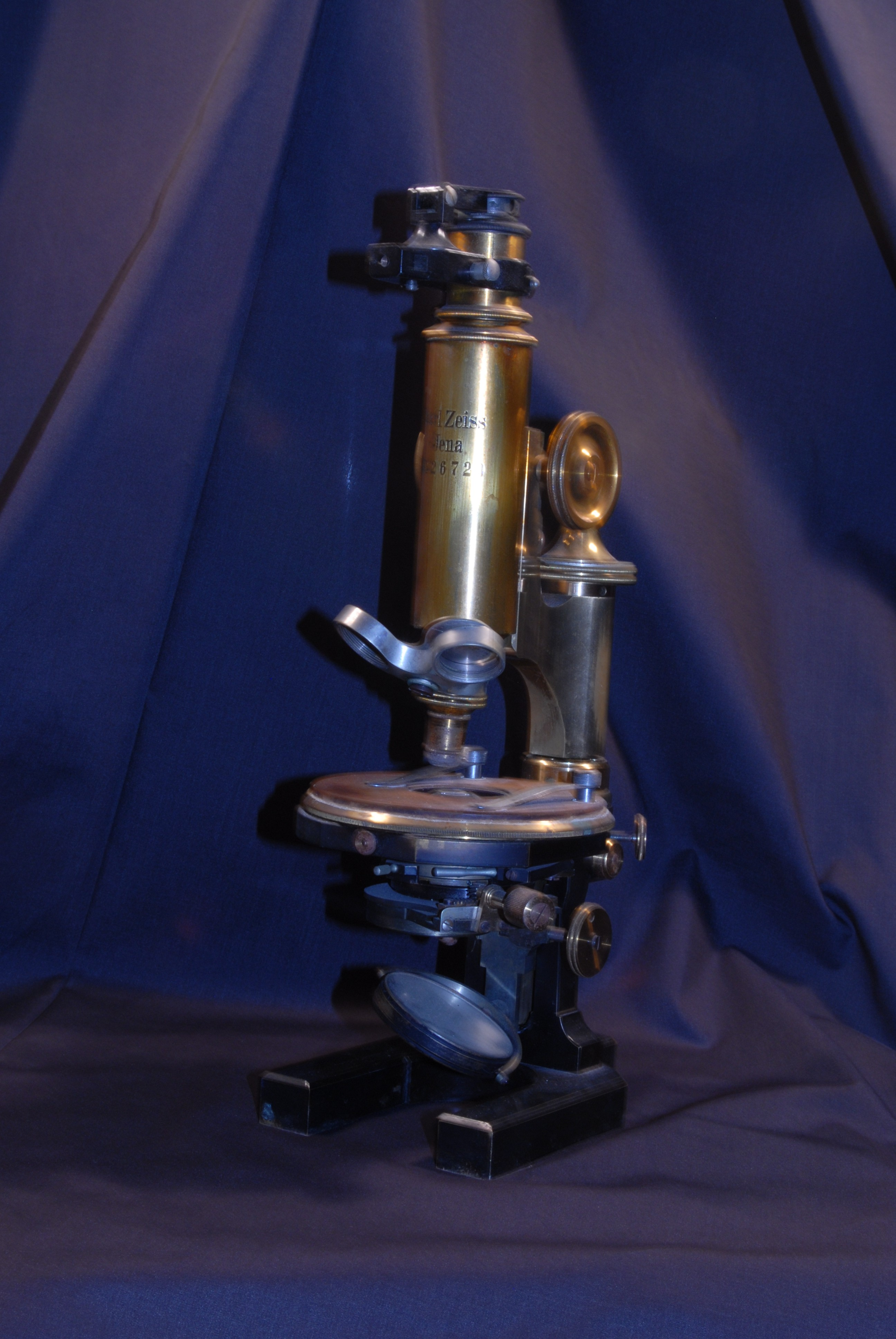 Zeiss Microscope donated to the college for the 1889-1890 school Year.