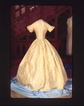 The 1854 wedding dress of Margaret Heminway.